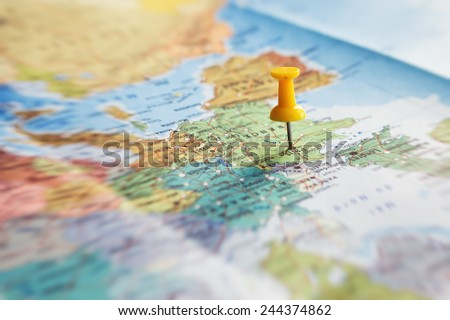 travel destination, pin on the map #244374862