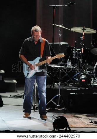 Rio de Janeiro-Brazil December 20, 2012- Eric Clapton in concert in Rio de Janeiro, at HSBC Arena #244402570