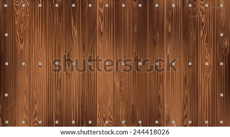 Dark wood background of narrow smooth boards. #244418026