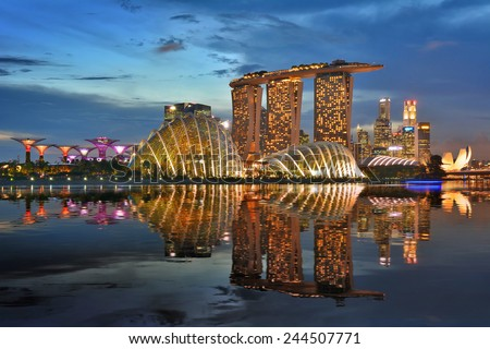 Building in Singapore. Royalty-Free Stock Photo #244507771