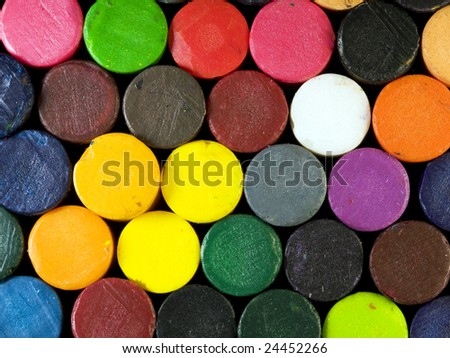 Pile of crayons #24452266