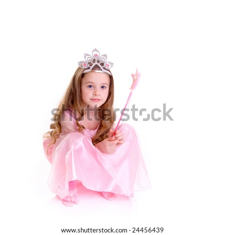 Young girl as magic fairy on white background #24456439