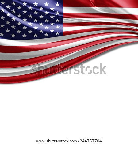America flag and whit background #244757704