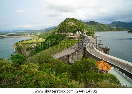 Water plant power dam energy in Taiwan #244914982
