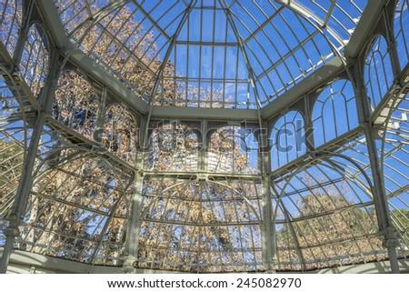 Crystal Palace in the Retiro park Madrid, Spain #245082970