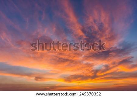 Dramatic sunset and sunrise sky. #245370352