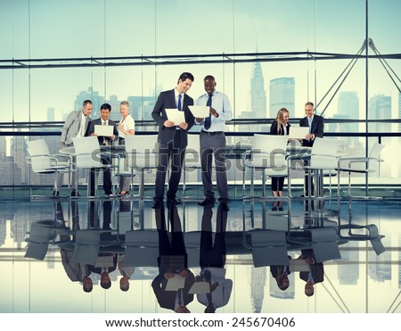 Diversity Business People Discussion Coorperation Meeting Concept #245670406