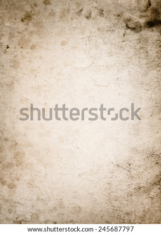 very old paper background with space for text or image #245687797