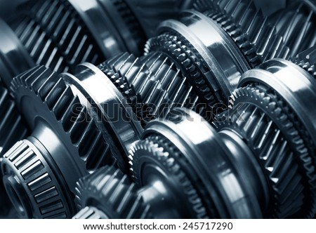 Gear metal wheels close-up #245717290