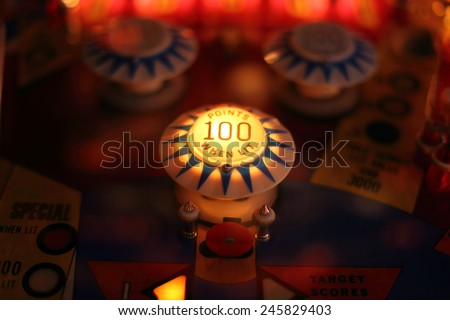 Abstract pinball background  Royalty-Free Stock Photo #245829403