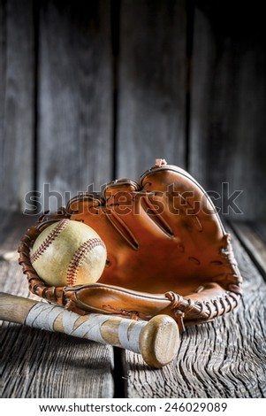 Set to play little league in baseball Royalty-Free Stock Photo #246029089