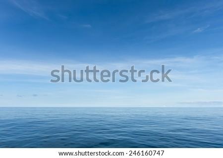 Blue sea and sky horizon #246160747