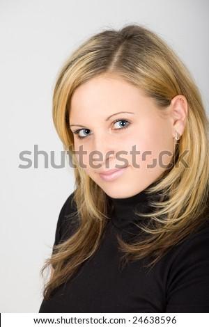 studio portrait of a beautiful young woman #24638596
