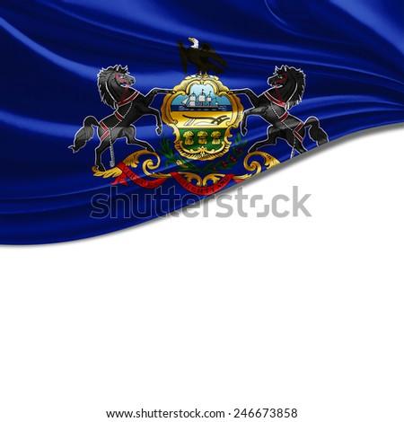 Pennsylvania flag and white background #246673858