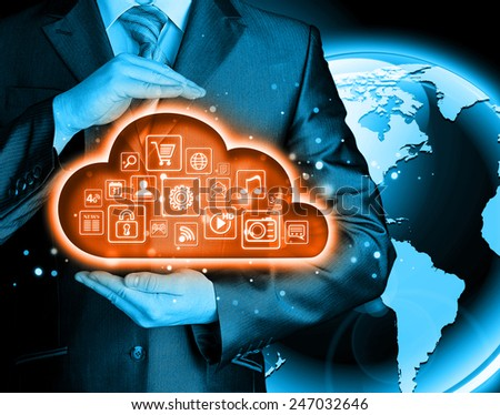 Cloud computing touchscreen interface #247032646