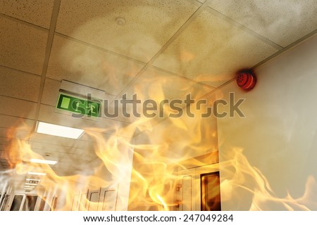Fire in the building #247049284