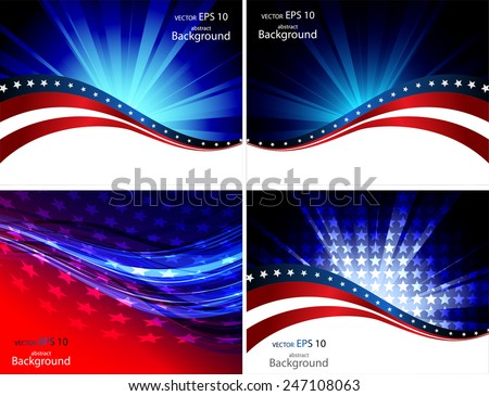 Abstraction on a theme of the American flag
