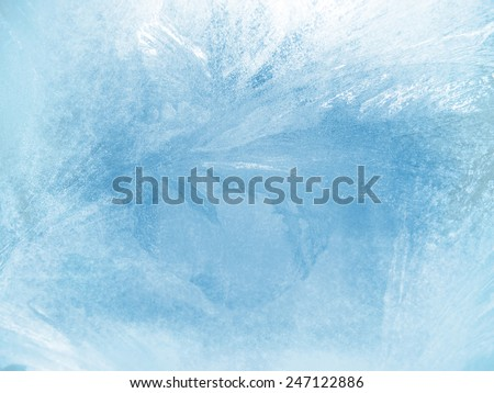 Ice on a window, background  Royalty-Free Stock Photo #247122886