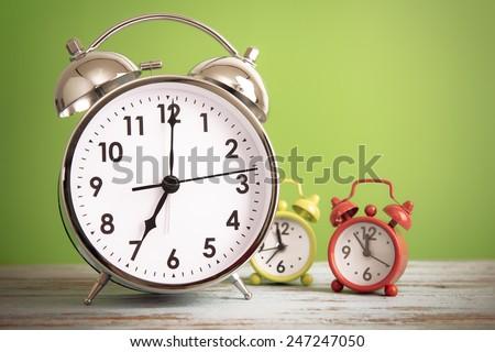 Retro alarm clock with retro colored #247247050