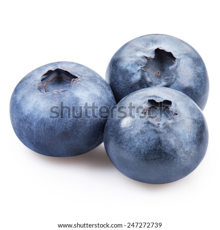 blueberries isolated on white Clipping Path  #247272739