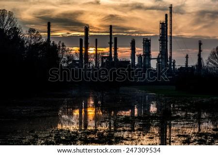 abandoned refinery #247309534