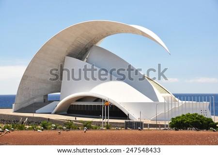 TENERIFE, SPAIN - AUGUST 18, 2010: Auditorio de Tenerife - futuristic building designed by Santiago Calatrava Valls #247548433