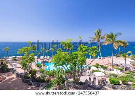 View on resort at Tenerife Island, Spain #247550437