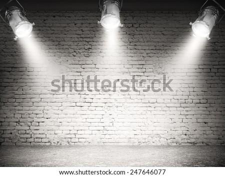Dark background with spotlights  Royalty-Free Stock Photo #247646077