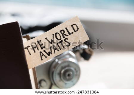 """text """"The World Awaits"""" and book #247831384"""