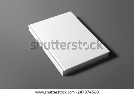 Blank book isolated on grey to replace your design Royalty-Free Stock Photo #247874560