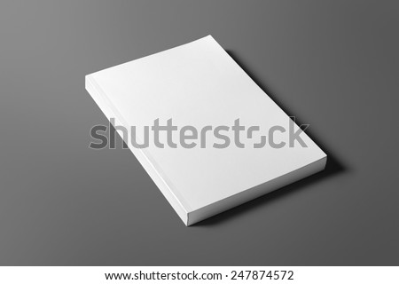 Blank book isolated on grey to replace your design Royalty-Free Stock Photo #247874572
