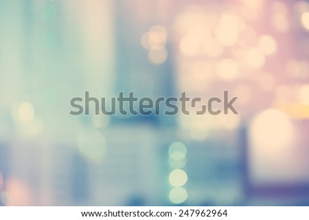 Blurred blue and pink urban building background scene