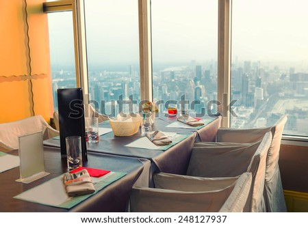 Interior of a restaurant in Bangkok #248127937