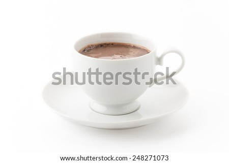 a cup of chocolate on white #248271073