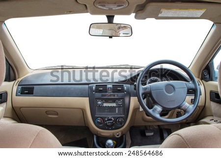 View of the interior of a modern automobile #248564686