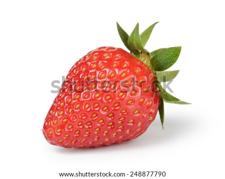 whole strawberry berry isolated on white #248877790