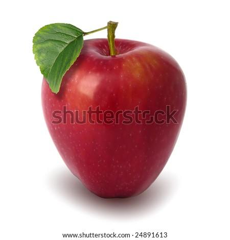 red apple,green leaf #24891613