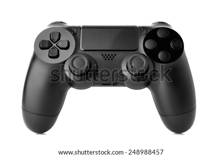 video game controller isolated on white background #248988457