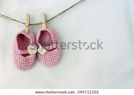 Baby girl knitted sandal