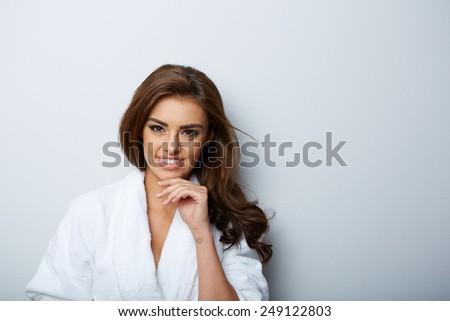 picture of beautiful woman beautiful woman in spa salon #249122803