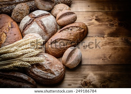 breads on the wooden #249186784