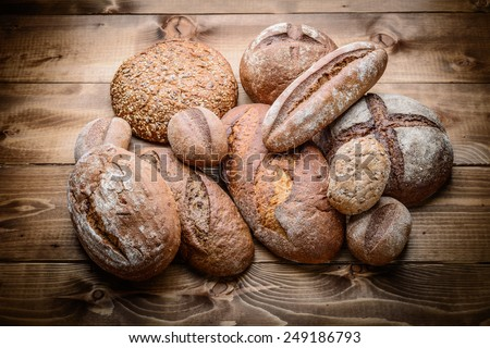 breads on the wooden #249186793