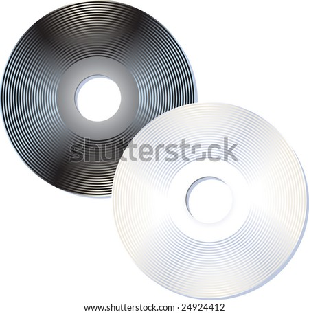 Black and white compact disks #24924412