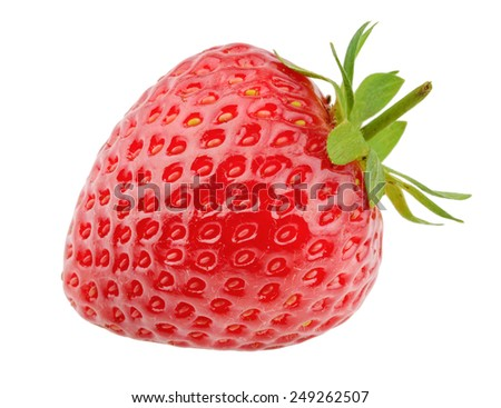Strawberry isolated on white background #249262507