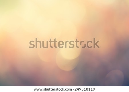 colorful blurred bokeh background with retro effect