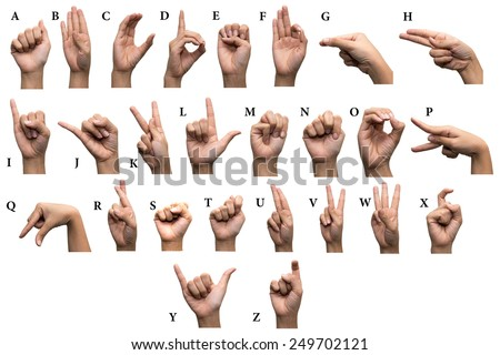 Finger Spelling the Alphabet in American Sign Language (ASL)