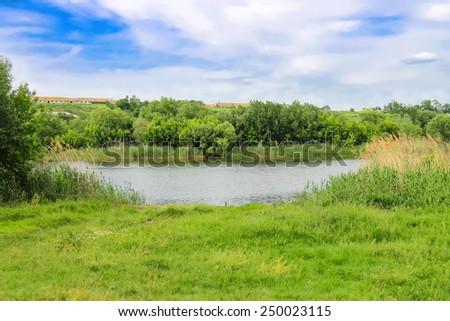 River near the Ukrainian village  #250023115