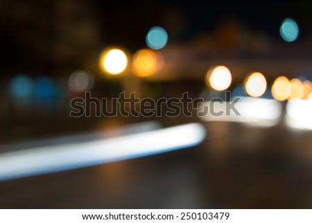 Bokeh background, street, road, light #250103479