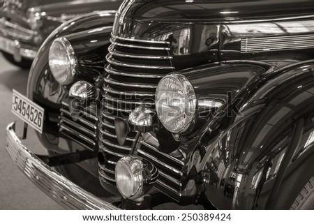 MLADA BOLESLAV, CZECH REPUBLIC -JUNI 21, 2014: Skoda Auto Museum in Mlada Boleslav. Automobile museum presents the history of the company Skoda Auto and it is predecessor Laurin & Klement #250389424