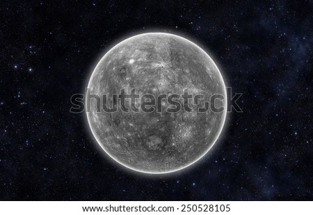 Planet Mercury - Elements of this Image Furnished By Nasa